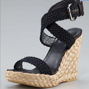 Stuart Weitzman Alex Crochet Ankle Wrap Espadrille